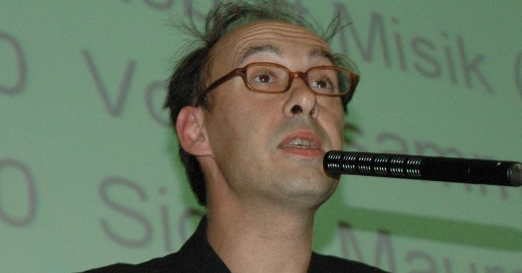 Robert Misik im AudiMax 2009 (Bild: Nick Wolfinger)