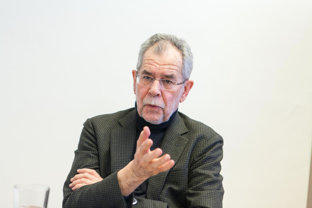 Alexander Van der Bellen im Gespräch